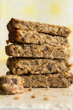 The perfect fuel for my relay!  Vegan banana protein bars!