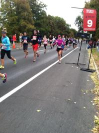 Feeling great at mile 9!