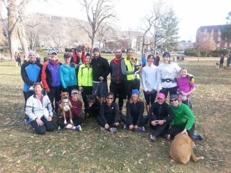 Spending Thanksgiving morning with great running buddies!