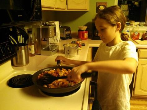 I am lucky to have a daughter who is interested in cooking, let alone cooking vegetarian and vegan meals!