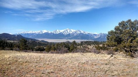 "Breathtaking view from the top of one of those ""Wake-up"" hills.  Collegiate Peaks 25 miler."