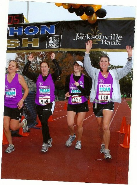 The WORST marathon ever!  But I wouldn't have the memories of running with these great friends :).  At least we endured together.